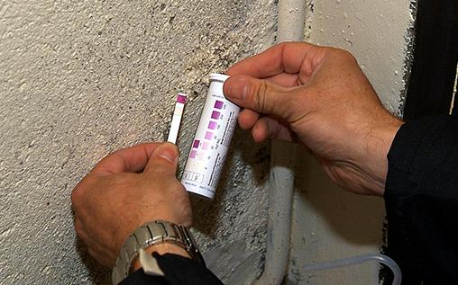 Diagnostic effectué sur mur humide
