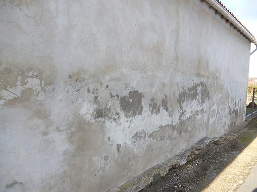 Mur de façade dégradé