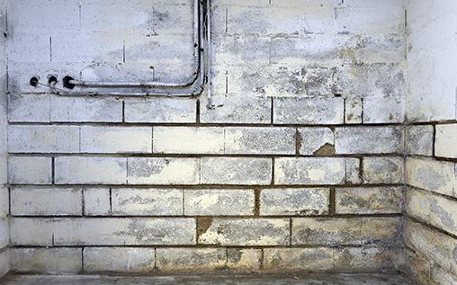 Mur enterré humide