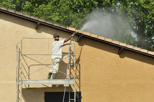 Application traitement incolore sur façade